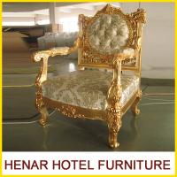 Quality Luxury Commercial Hotel Furniture Golden Wood King Throne Chair for Lobby wholesale