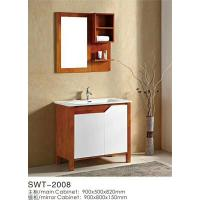Buy cheap 16mm Oak / Plywood Ceramic 36 Inch Bathroom Vanity 2 Doors Without Drawer from Wholesalers