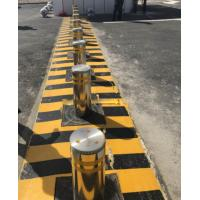 China Stainless Steel Bollards Hydraulic Road Blocker Variable Frequency Controller With LED Light factory