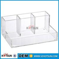 China wholesale Desk Stationery With Pen Holder acrylic Office Desk Organizer factory