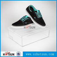 China Customized color and logo printed acrylic shoe box, Factory Custom Made Clear Storage Shoe Box factory