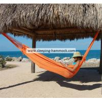 Buy cheap Comfortable Hand Woven Mayan Hammock For 2 , Fade Resistant Orange Unique Style Hammock from Wholesalers