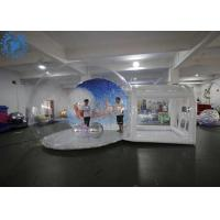 China Hot Air Welding Large Inflatable Snow Globe / Custom Christmas Ornaments factory
