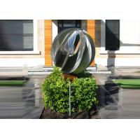 Buy cheap Attractive Stainless Steel Sphere Sculpture / Contemporary Steel Sculpture from Wholesalers