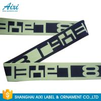 China Printed Elastic Waistband 20MM - 50MM Jacquard Elastic Waistband For Underwear / Cothing factory