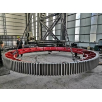 China Cement Mixer 16000mm kiln girth gear Large Main Drive Large Girth Steel Gear factory