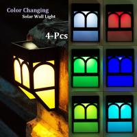 Buy cheap Color Changing Solar Fence Lights Multi-Color Solar Wall Lights for Garden Decor from Wholesalers