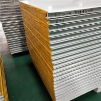 China 50mm hollow core mgo sandwich panel with protective film used for wall panel factory