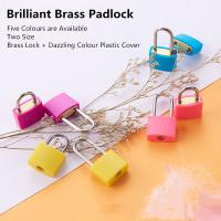 Buy cheap Colorful Mini Brass Padlock 20mm Long Beam Type Customized For Case & Bag from Wholesalers
