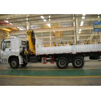China Durable 8T Knuckle Boom Truck Mounted Crane , 40 L/min Truck With Crane factory