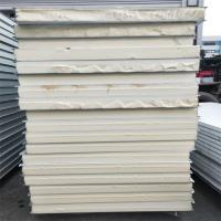 China 0.326mm grey white an steel PU sandwich panel 4750x 1150 x 75mm for cold storage factory