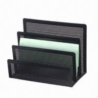 China Metal Mesh Letter Shelf with Epoxy Black Color factory