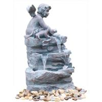 Buy cheap Angel On Rock Waterfall Resin Garden Fountains with LED Light Anchor Falls Cascading from Wholesalers