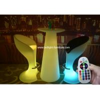 Multi Colors LED Patio Furniture / Remote Control Light Up Outdoor Furniture