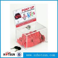 China Acrylic Comment/Donation /Collection/Ballot Box with Brochure Pocket and Lock factory
