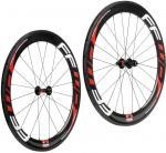 Buy cheap 700c Carbon Fiber Bike Wheels Tubular 60mm Depth 23mm 25mm Wide Straight Pull from Wholesalers