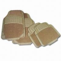 China PVC Car Mats, Available in Gray, Black and Tan factory