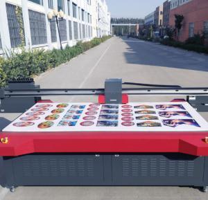 China Large Format Digital UV Flatbed Printer Uv Curing Ink Max Printing Size 2500mm * 1300mm on sale