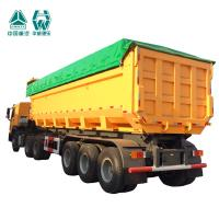 Buy cheap Tri Axles U Shape Mining Dump Truck 10500*2700*3980mm 70 Ton Capacity from Wholesalers