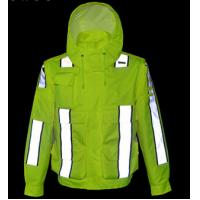 Waterproof Outdoor Safety Work Clothes Reflective Raincoat for high speed road
