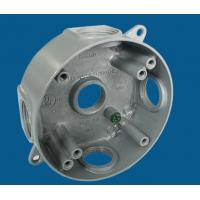 """China 4"""" Round Waterproof Electrical Box With 5 Outlet Holes Aluminum Die Cast MATERIAL factory"""