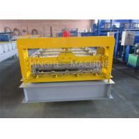 China Trapezoidal Corrugated Sheet Roll Forming Machine , Metal Sheet Rolling Machine  on sale