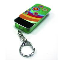 China Slider Mint Tin With Key Ring factory