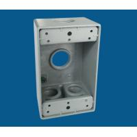 China 1 Gang Waterproof Electrical Box / Exterior Outlet Box With 4 Outlet Holes factory