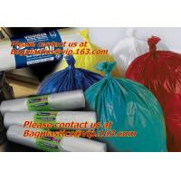 China Biodegradable blue trash bag refuse sack on roll,disposable plastic garbage strong hdpe factory
