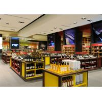 Buy cheap Customized red wine wood display stand shop display showcase for store shop shopping mall from Wholesalers