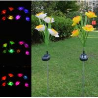 Buy cheap 2Pack 4LED Solar Power LED light Calla Lily Flower Lamps outdoor Waterproof party Garden Yard Decorative Lights from Wholesalers