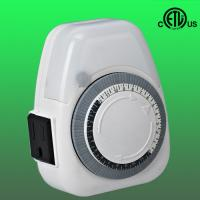 China 24hours single outlet indoor mechanical timer, grounded factory