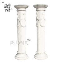 China Marble Column Pillar  Ancient Greek Stone Garden Isolated White factory