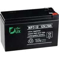 China Dux Battery AGM battery 12V 7AH lead acid battery VRLA battery long life battery seal acid maintenance free battery on sale