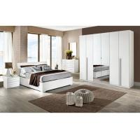 Buy cheap White High Gloss Bedroom Furniture Sets 6 Door Mirrored Wardrobe Acid Resistant from Wholesalers