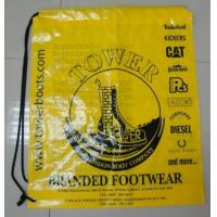 China prompt response printed soft loop handle ldpe polythene carry bags, draw string bags, draw factory