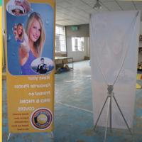 Buy cheap Adjustable X Stand Banners With Grommets Single / Double Sides from Wholesalers