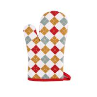 Buy cheap Hand Protective Cotton Oven Mitts , Christmas Pattern Printed Kitchen Mitts Gloves from Wholesalers
