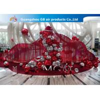 China Red And Silver Inflatable Air Mirror Ball Airtight Customize Size factory