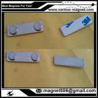 China Metal Magnet fastener for badges 45 mm x 13 mm for clothing factory