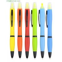 3 in 1 pen,pen with highlighter and toouch stylus, ball point pen