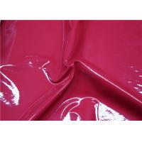 China Red Patent Synthetic Leather , High Polish Shoes Patent Leather No Fading on sale