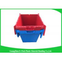 Buy cheap Solid Moving Plastic Attached Lid Containers , 50kgs Security Plastic Bins With Lids from Wholesalers