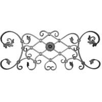 Buy cheap Decorative garden fence steel flowers leaves forged gate from wholesalers