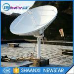 Buy cheap 2.4m(8feet) ku band manual TxRx VSAT satellite communication antenna from Wholesalers