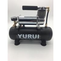 China Low Noise DC Air Suspension Pump With Connected Air Tank And Gauge For Air Bag factory