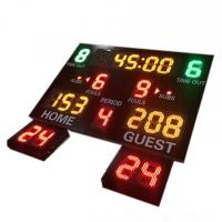 China Indoor Use Gym Digital Basketball Scoreboard With 24 Seconds Shot Clock factory