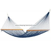 Buy cheap Adult Kids Travel Simple Rope Hammock With Solid Hardwood Bars Blue All Weather from Wholesalers