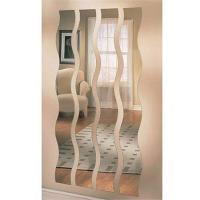 China Long Wave / S - Shaped Processed Mirror Glass 3mm For Vestibule , Art Deco Mirror factory
