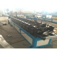 China Column Door Frame Roll Forming Machine 14mm Plate Gear Driving PLC Controller on sale
